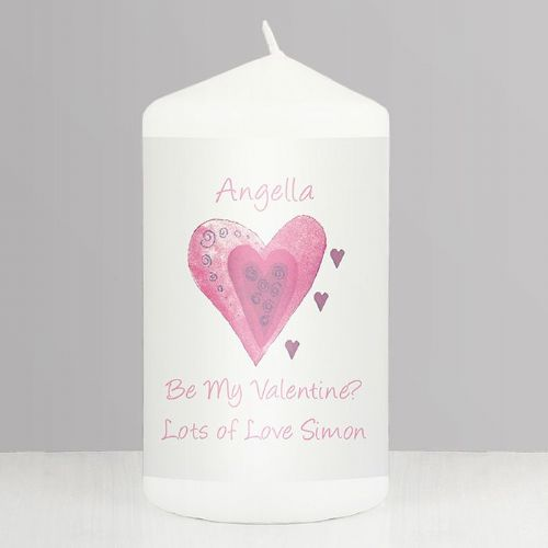 Personalised Hearts Candle.